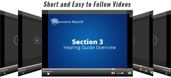 Section Three – Social Security Disability Hearing Guide, RepresentMyself